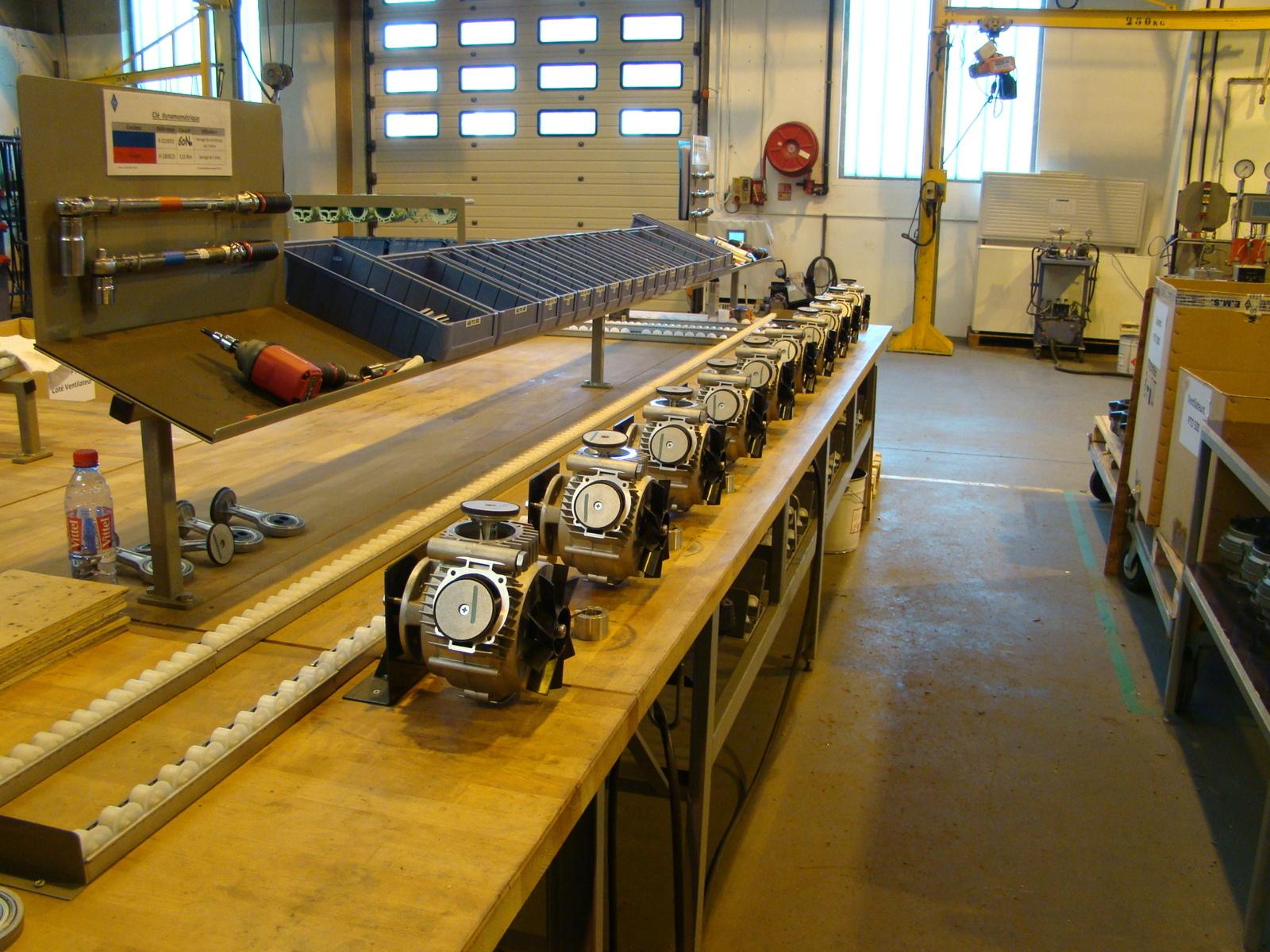 Ligne de montage de têtes de compresseurs PTO500