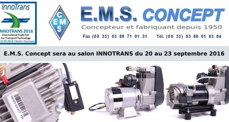 EMS sera à INNOTRANS 2016