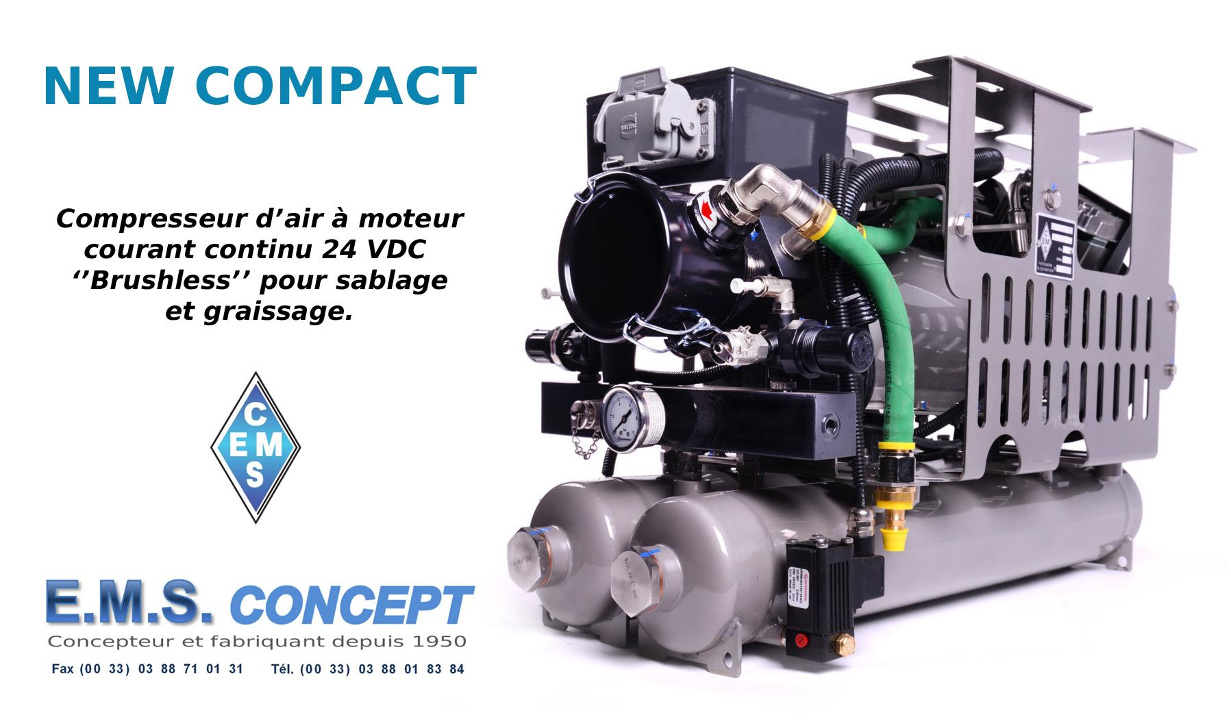 compresseur de graissage et sablage new compact