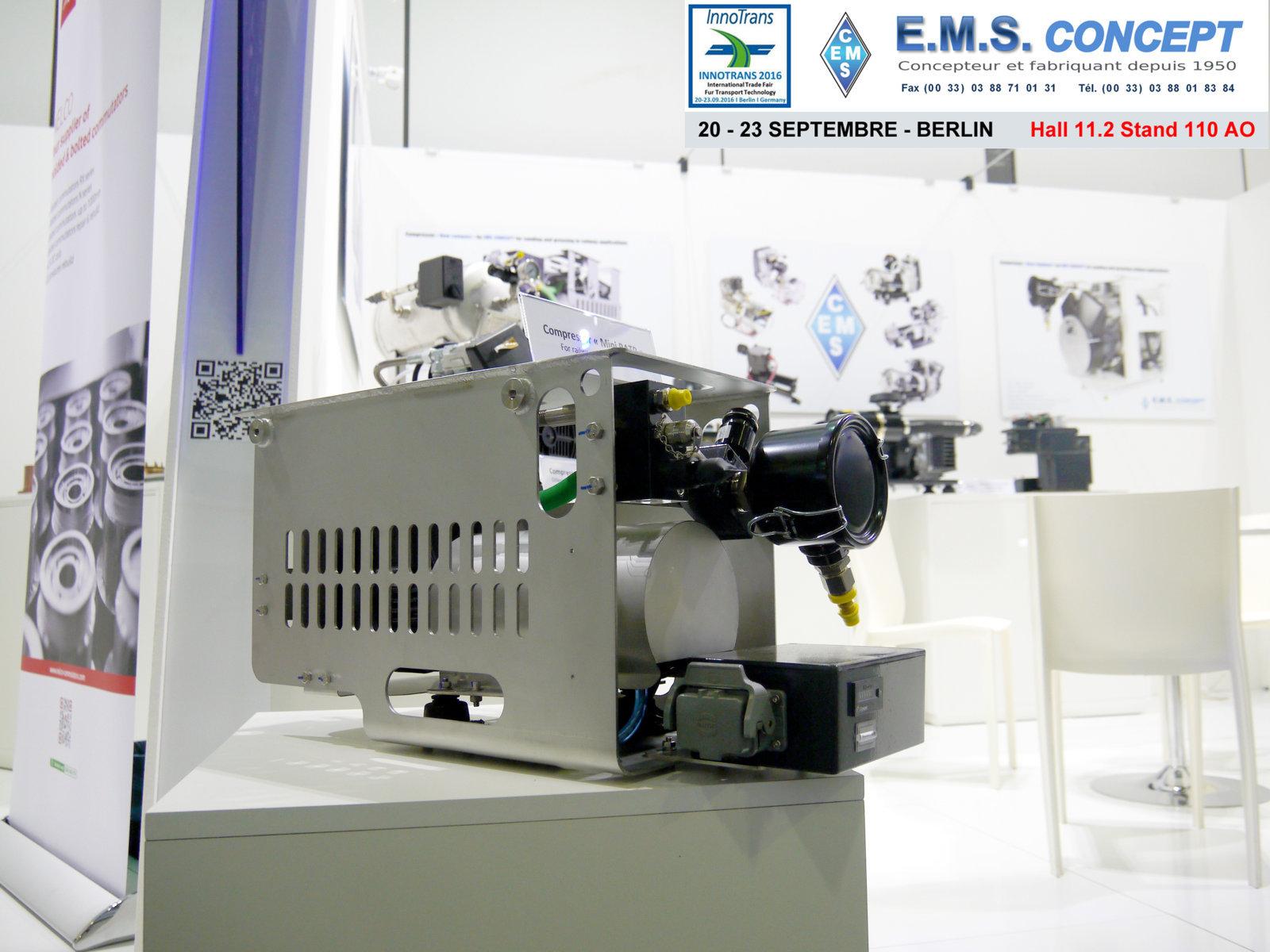 """Berlin Innotrans """"New Standard"""" EMS Concept"""
