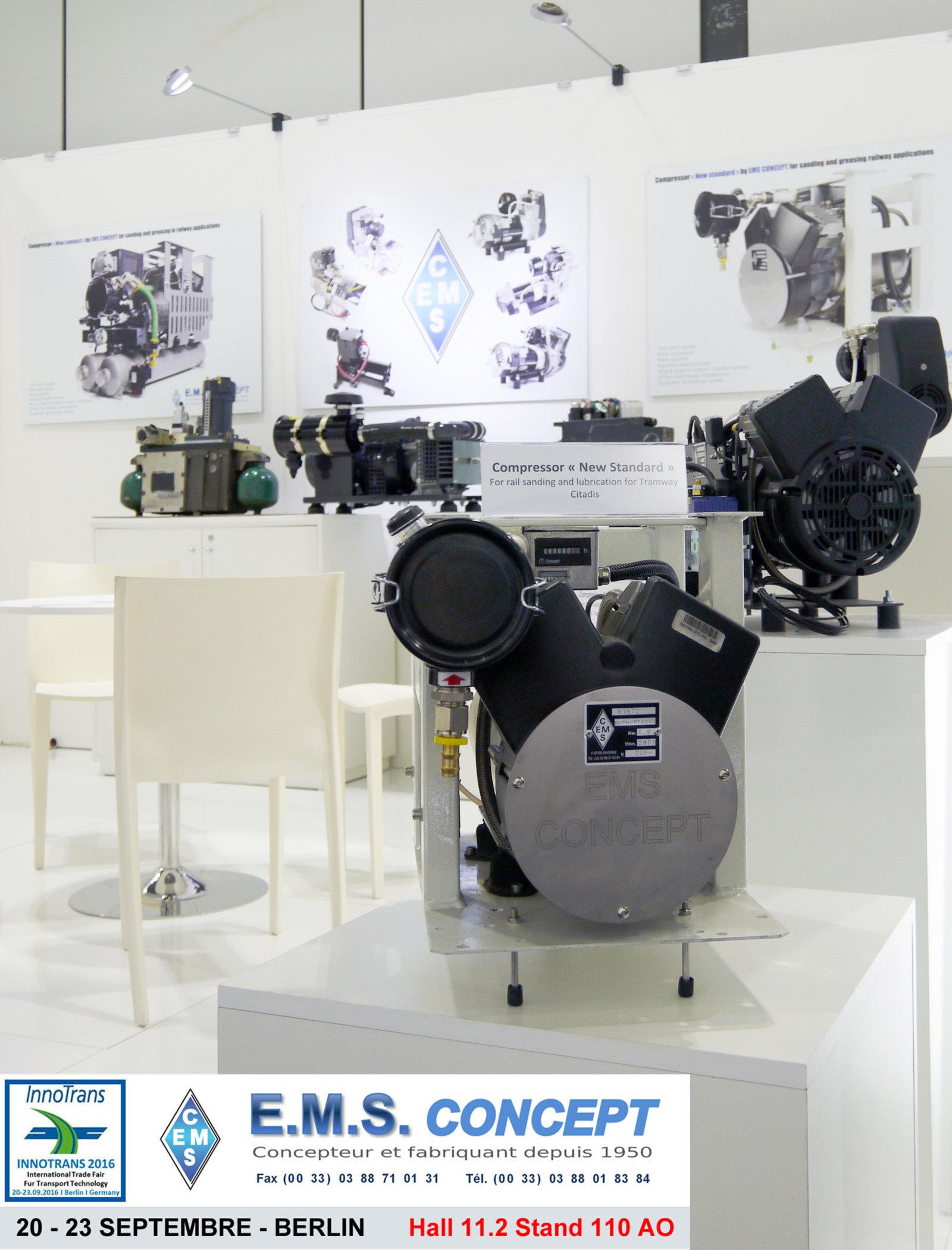 """Berlin Innotrans, compresseur """"New Standard"""" EMS Concept"""