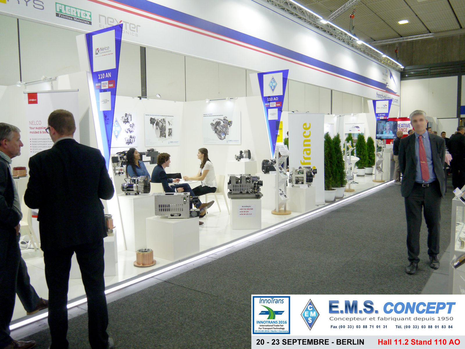 Berlin Innotrans : Stand EMS Concept