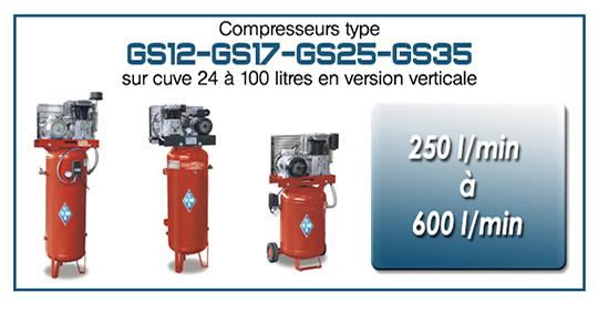 GS12 17 25 35 cuve 24 a 100 litres sur cuve verticale ems