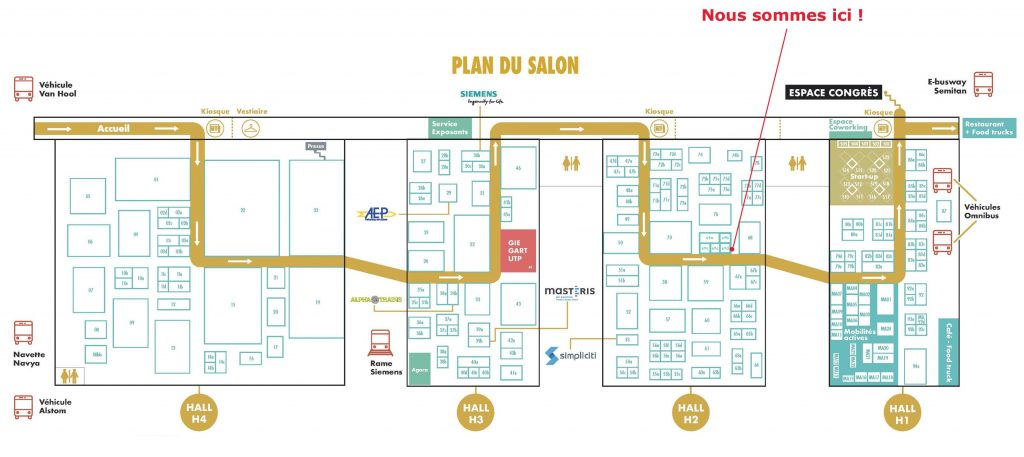 Rencontres Nationales du Transport Public : plan de l'évènement