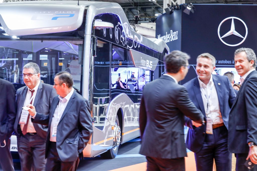 Rencontres Nationales du Transport Public stand Mercedes
