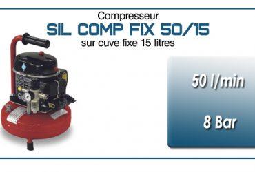 Compresseur silencieux SIL COMP – 50 l/min sur cuve fixe 15 litres