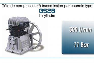 Tête de compresseur à transmission par courroie type GS28