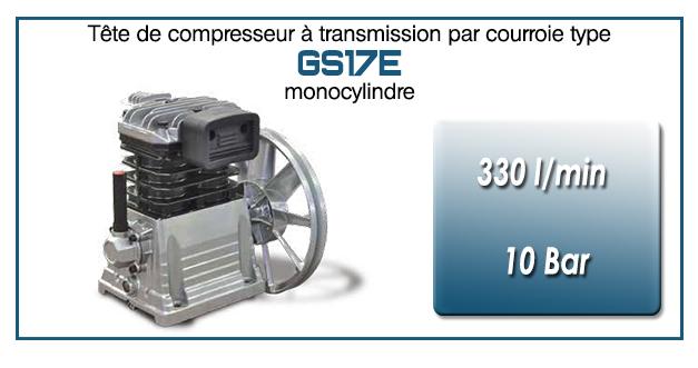 Tête de compresseur à transmission par courroie type GS17E