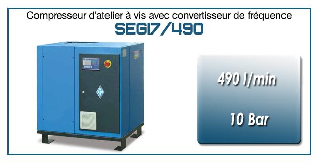 Compresseur à vis SEGI7-490 l/min