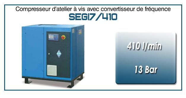 Compresseur à vis SEGI7-410 l/min