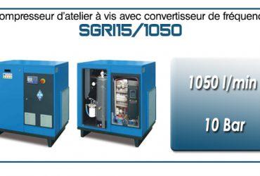 Compresseur à vis SGRI15 – 1050 l/min