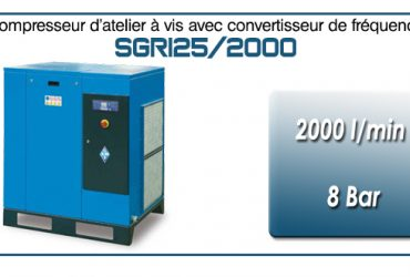 Compresseur à vis SGRI25 – 2000 l/min
