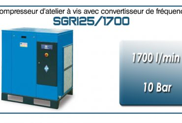 Compresseur à vis SGRI25 – 1700 l/min