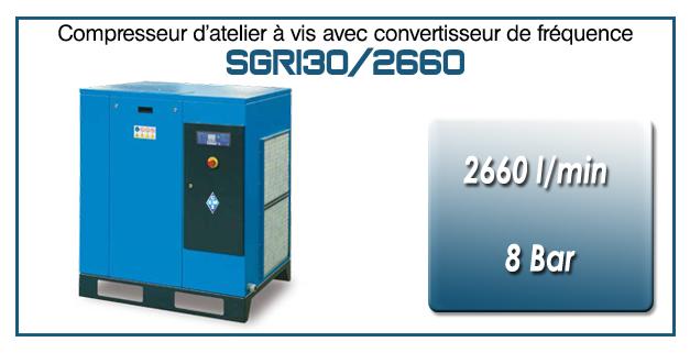 Compresseur à vis SGRI30 – 2660 l/min
