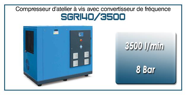 Compresseur à vis SGRI40 – 3500 l/min