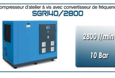 Compresseur à vis SGRI40 – 2800 l/min