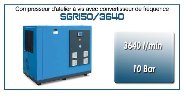 Compresseur à vis SGRI50 – 3640 l/min