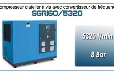 Compresseur à vis SGRI60 – 5320 l/min
