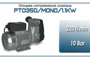 Moto-compresseur monocylindre Oilless type PTO350/MONO-1.1KW