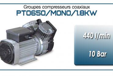 Moto-compresseur bicylindre Oilless type PTO650/MONO-1.8KW