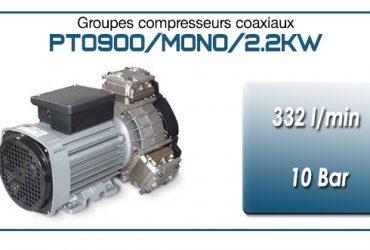 Moto-compresseur tricylindre Oilless type PTO900/MONO-2.2KW