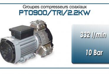 Moto-compresseur tricylindre Oilless type PTO900/TRI/2.2KW