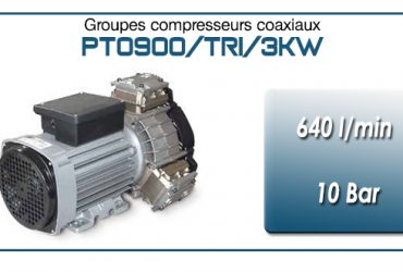 Moto-compresseur tricylindre Oilless type PTO900/TRI/3KW
