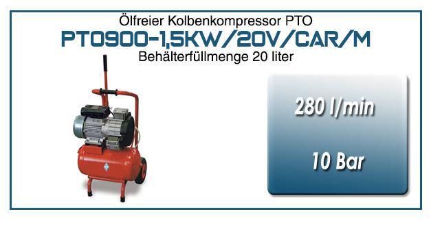 Kompressor typ PTO900-1,5kW/20V/CAR/M