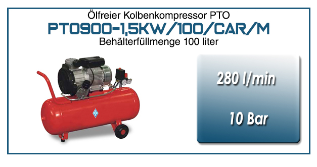 Kompressor typ PTO900-1,5kW/100/CAR/M