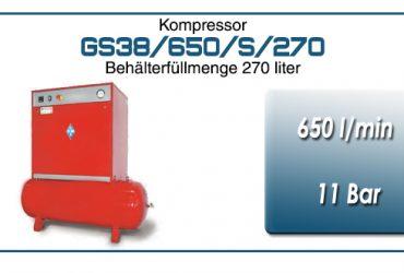 Kompressor typ GS38/650/S/270