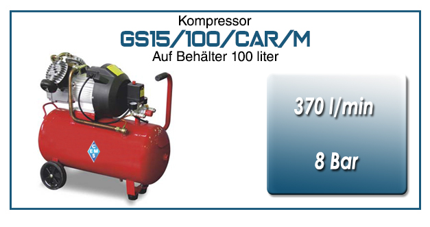 Kompressor typ GS15/50/CAR/M