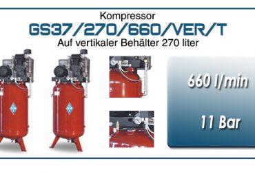 Luftkompressoren mit riemenantrieb typ GS37/270/660/VER/T