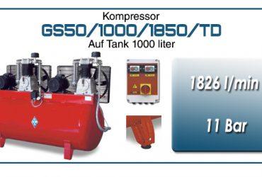 Luftkompressoren mit riemenantrieb typ GS50/1000/1850/TD