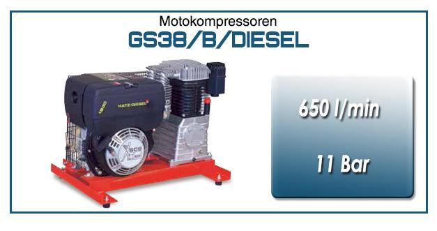 Motokompressor typ GS38/B/DIESEL