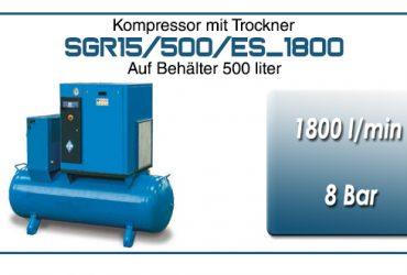 Schraubkompressoren auf tank typ SGR15/500/ES_1800