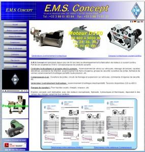 Nouveau site EMS Concept : ancien visuel