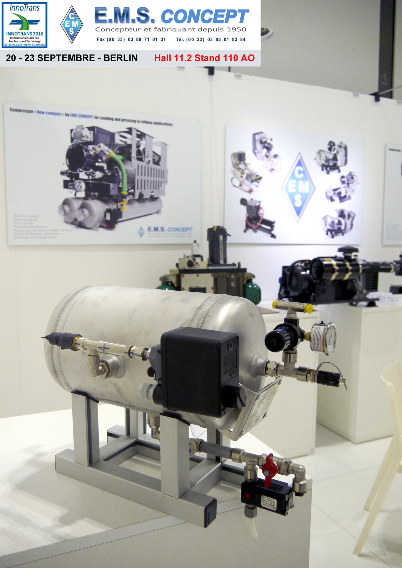 Berlin Innotrans stand EMS Concept