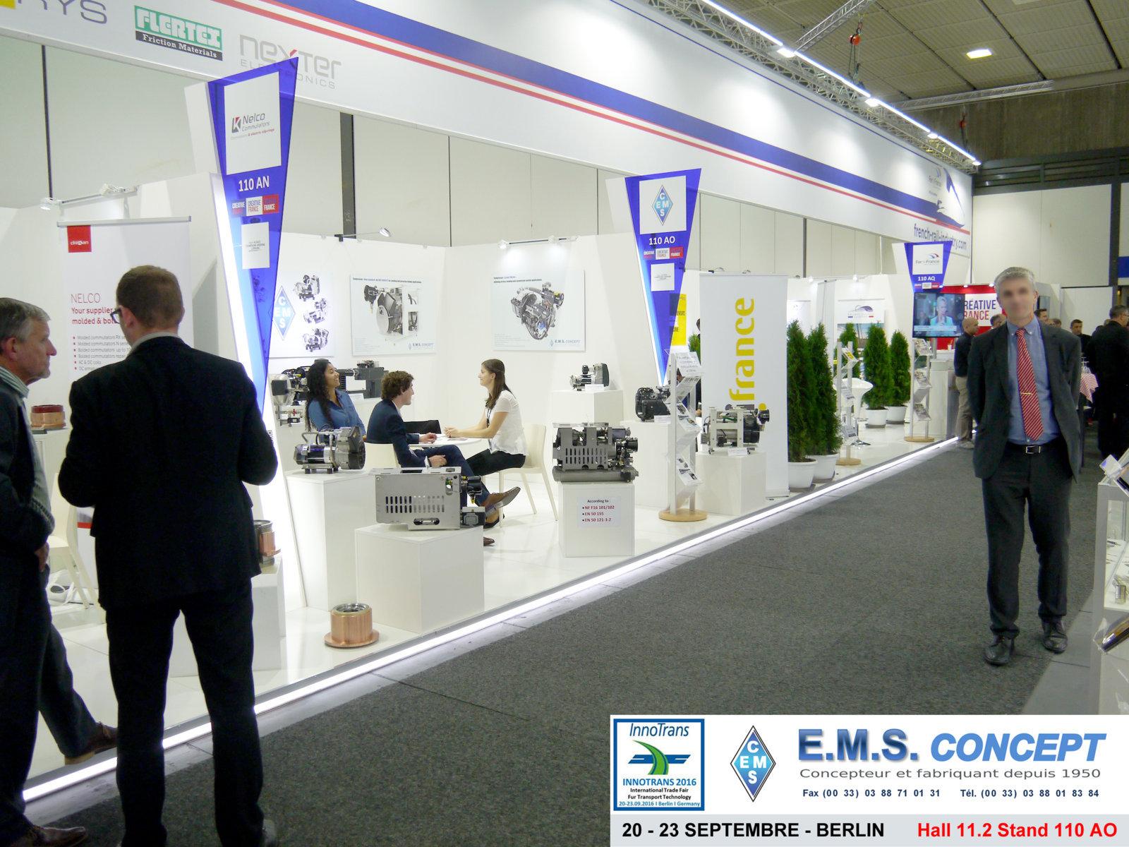 Berlin Innotrans : Stand EMS Concept