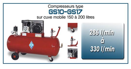 Compresseurs type GS10 gs17 ems