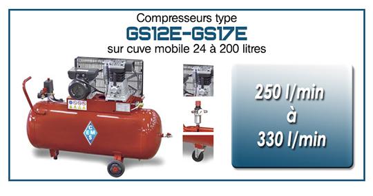 GS12E GS17E sur cuve de 24 a 200 litres ems