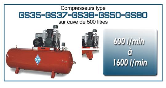 GS35 37 38 50 80 sur cuve 500 litres ems