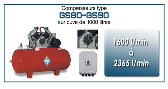 GS80 GS90 sur cuve 1000 litres ems
