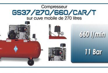 Compresseur à courroie GS37/270/660/CAR/T