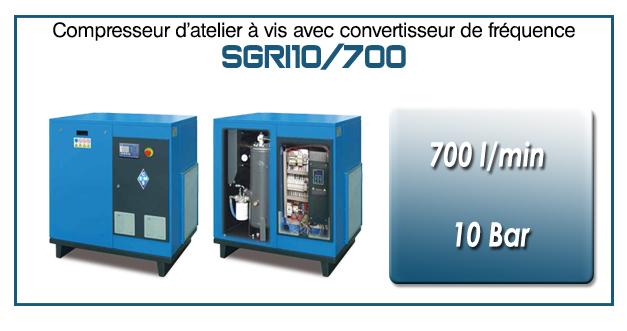 Compresseur à vis SGRI10 – 700 l/min