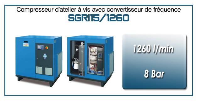 Compresseur à vis SGRI15 – 1260 l/min