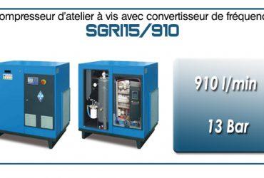 Compresseur à vis SGRI15 – 910 l/min