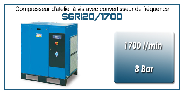 Compresseur à vis SGRI20 – 1700 l/min