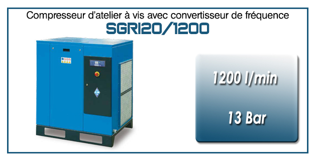 Compresseur à vis SGRI20 – 1200 l/min