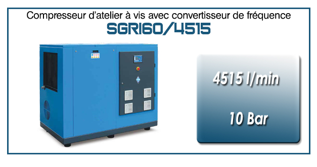 Compresseur à vis SGRI60 – 4515 l/min