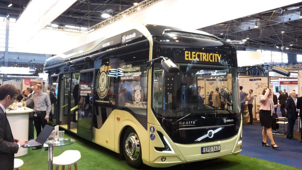 Bus électrique lors du salon Transports Publics